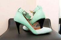 Green wedding shoes for pink and green wedding by DC wedding planner Glow weddings