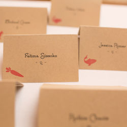 Thomas Jefferson DC Wedding Name Cards